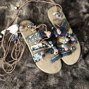 Free People Thaikila Wrap Sandals